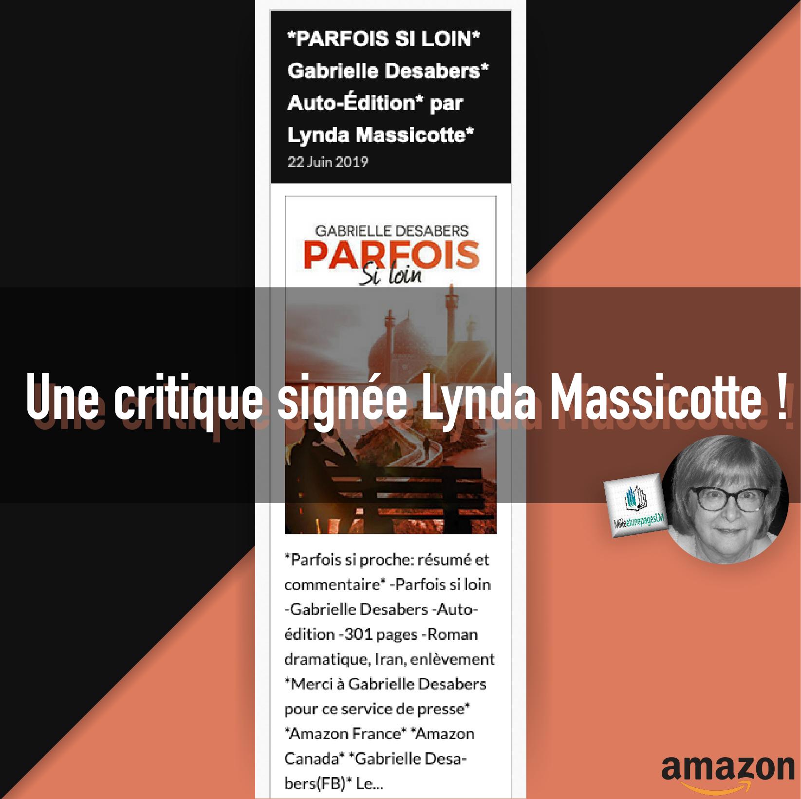 Une critique signée Lynda Massicotte !